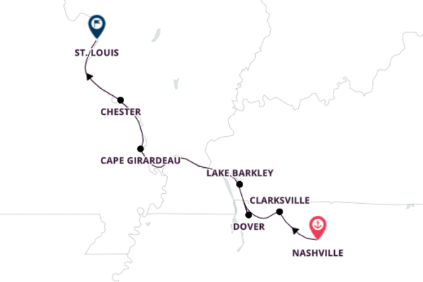 Cumberland River Cruise to St. Louis