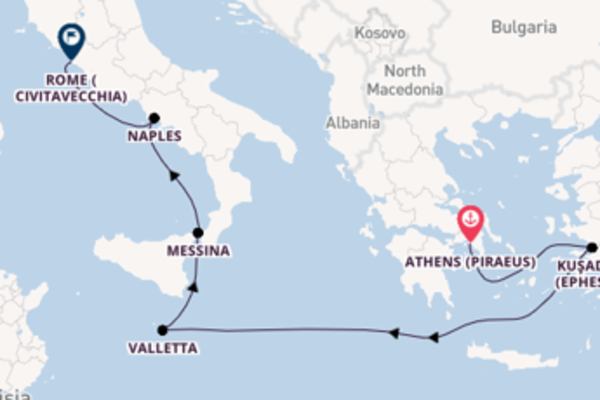 Voyage with Viking Ocean Cruises from Athens (Piraeus)