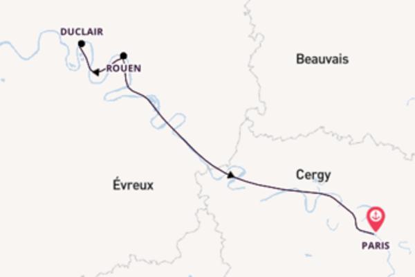 Sailing from Paris via Rouen