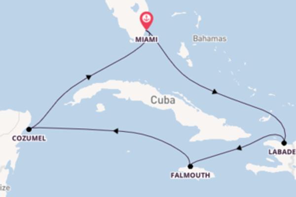 Charmosa viagem de 8 dias com a Royal Caribbean