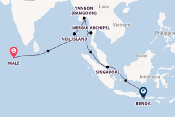 In 21 dagen naar Benoa, Bali, Indonesië