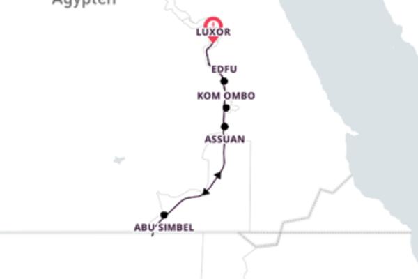 15-tägige Kreuzfahrt ab Luxor