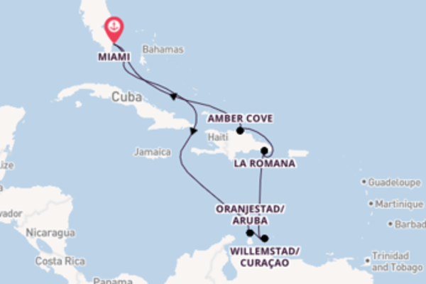 9 day cruise on board the Carnival Horizon from Miami