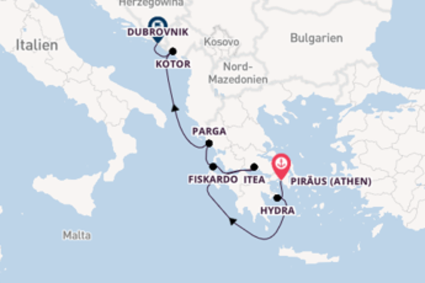 8-tägige Kreuzfahrt ab Piraeus