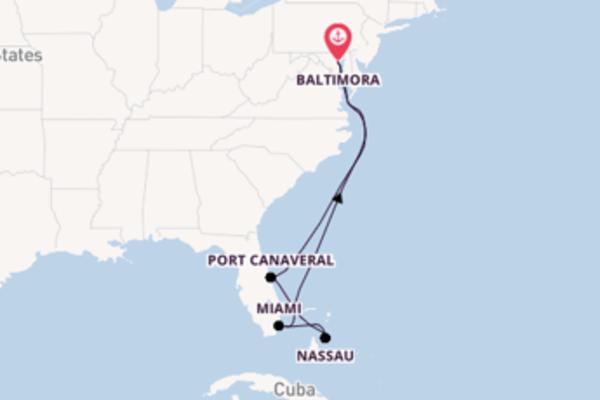 9 giorni verso Baltimora passando per Coco Cay