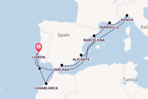 11 day trip on board the MSC Virtuosa from Lisbon