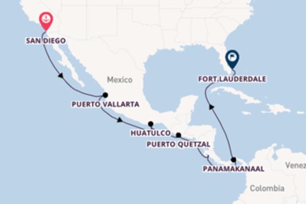 15-daagse cruise naar Huatulco