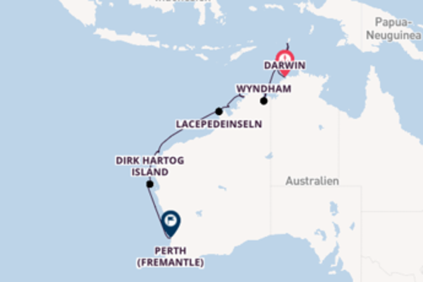 Kreuzfahrt mit Silver Explorer von Darwin nach Perth (Fremantle)