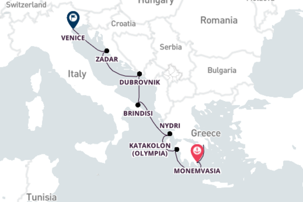 Vibrant Venice from Athens with Seabourn Odyssey