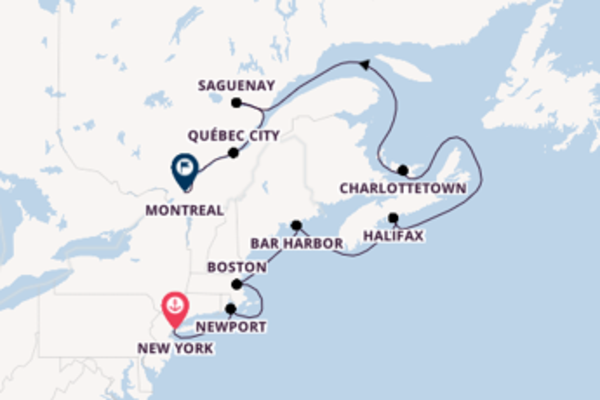 Trip with Seabourn from New York