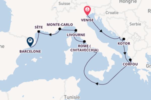 Dubrovnik depuis Venise pour une croisière de 13 jours
