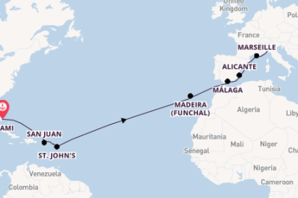 Cruising with MSC Cruises from Miami to Genoa