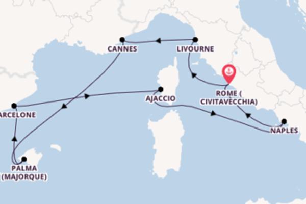 8 jours pour découvrir Livourne à bord du beateau Norwegian Epic