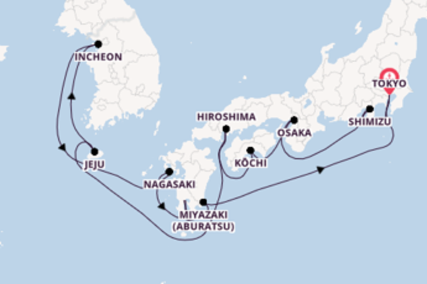 Sail with the Seven Seas Explorer from Tokyo