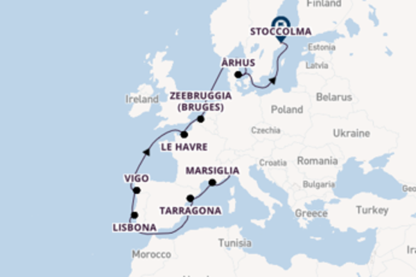 Rilassante viaggio di 15 giorni verso Le Havre a bordo di Costa Fortuna