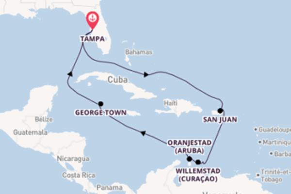 Oranjestad (Aruba), depuis Tampa à bord du bateau Celebrity Constellation