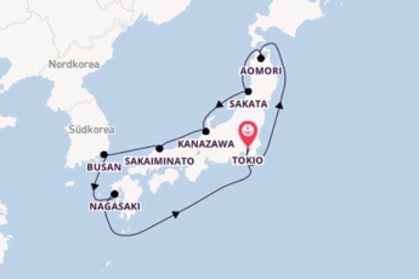 In 10 Tagen nach Tokio über Kanazawa