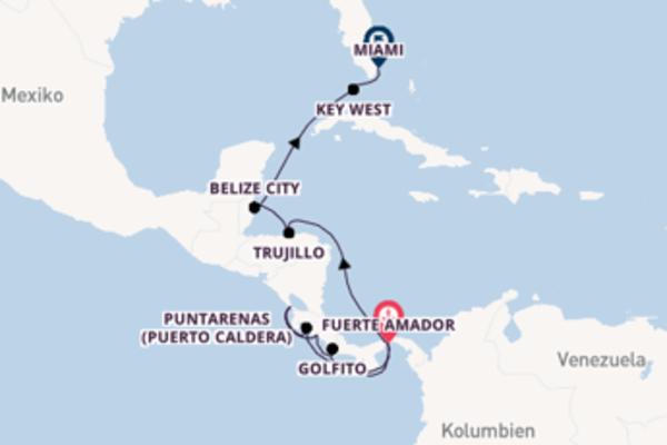 Fuerte Amador und Miami erleben