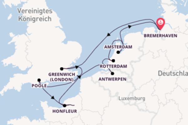 In 11 Tagen nach Bremerhaven über Rouen