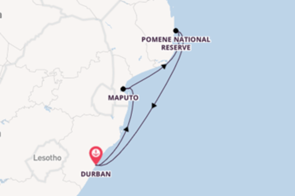 Expedition with MSC Cruises from Durban