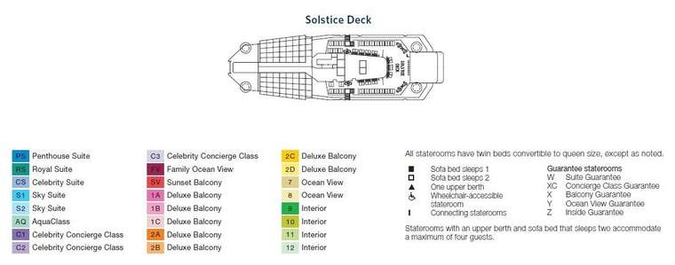 Celebrity Equinox Deck 16 Solstice