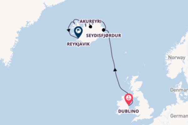Splendido viaggio verso Reykjavik