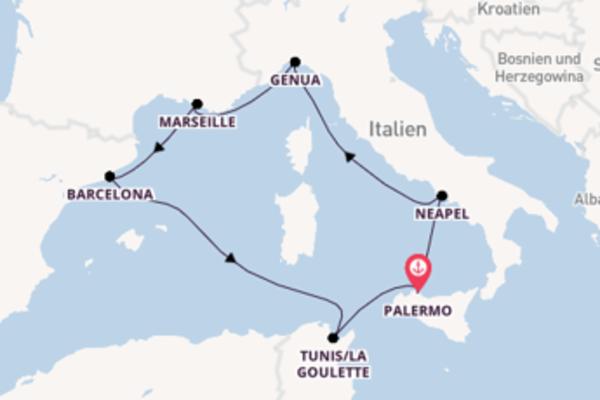 Wundervolle Kreuzfahrt über Neapel ab Palermo