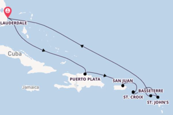 11-daagse cruise met de Celebrity Millennium vanuit Fort Lauderdale
