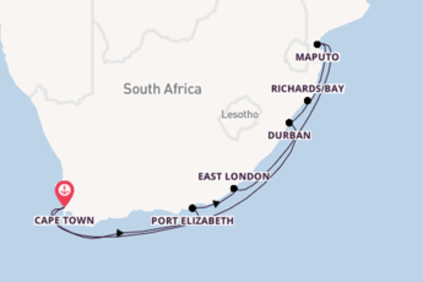 Cruise with the Azamara Pursuit from Cape Town