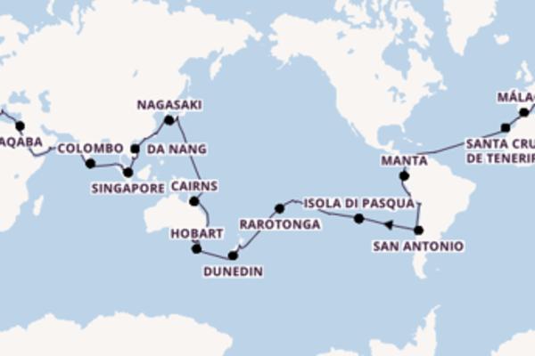 Fare rotta verso Pitcairn a bordo di Costa Deliziosa