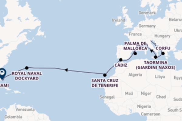 Journey with Regent Seven Seas Cruises from Venice to Miami