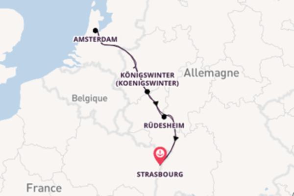 7 jours de croisière aller-retour à couper le souffle à Strasbourg avec le MS Victor Hugo