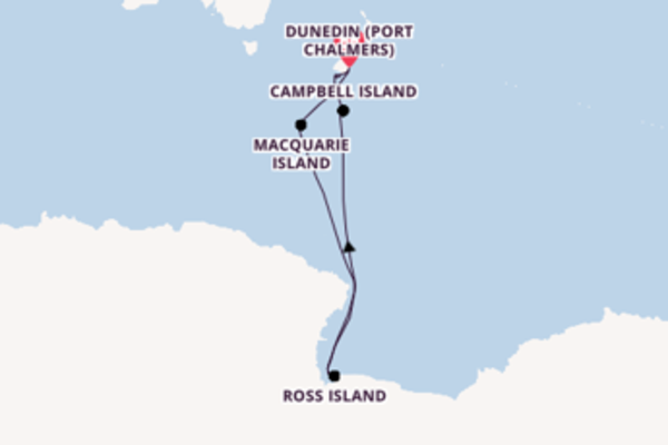 Cruise with Silversea from Dunedin