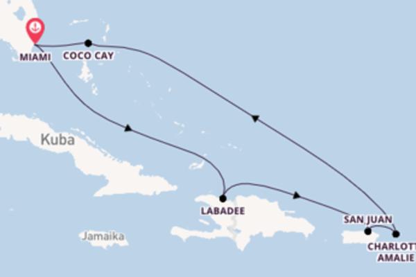 Erleben Sie Labadee ab Miami