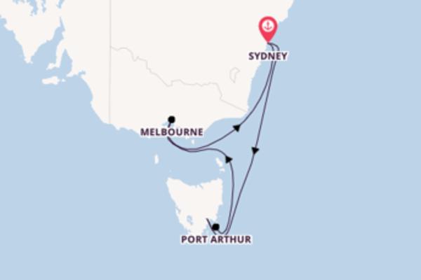 Cruise met Royal Caribbean naar Hobart