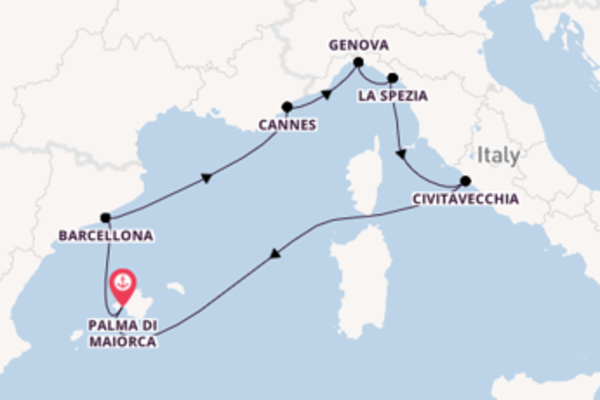 Fare rotta verso Cannes a bordo di MSC Grandiosa