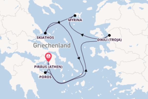 Die südlichen Kykladen am Mittelmeer