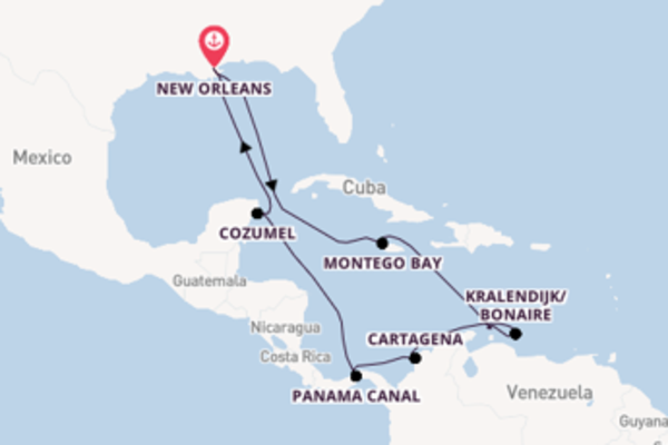 Trip from New Orleans with the Carnival Glory