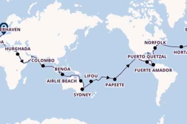 126-daagse wereldcruise met de Amera