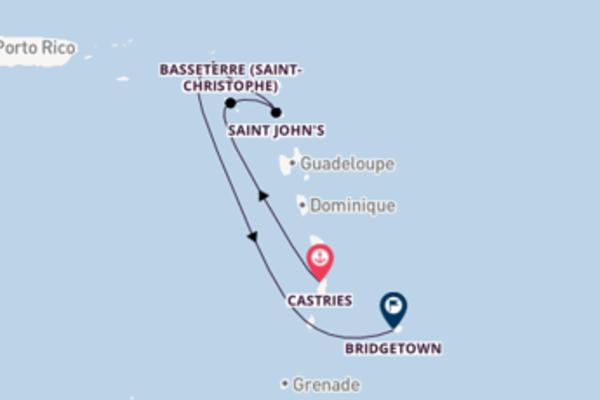 8 jours pour découvrir Saint John's au départ de Castries