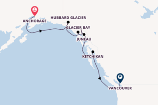Journey with the Coral Princess from Anchorage/Whittier,