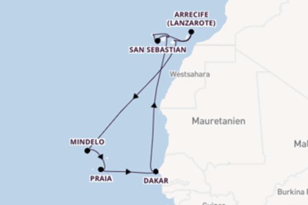 Erleben Sie Dakar auf der Mein Schiff 4