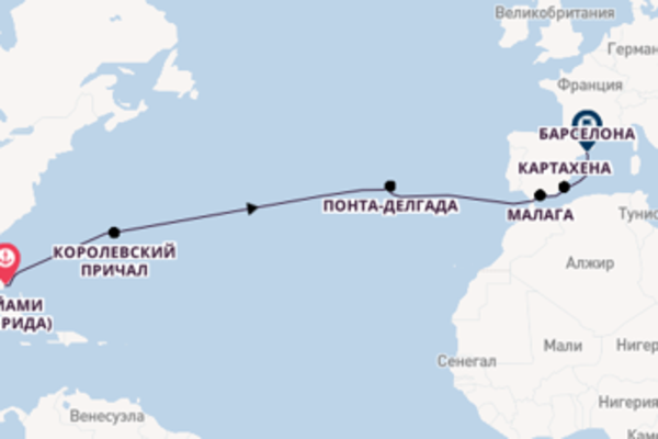 Майами (Флорида) - Барселона с Regent Seven Seas Cruises