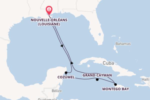 9 jours de navigation à bord du bateau Carnival Glory depuis Nouvelle-Orléans (Louisiane)