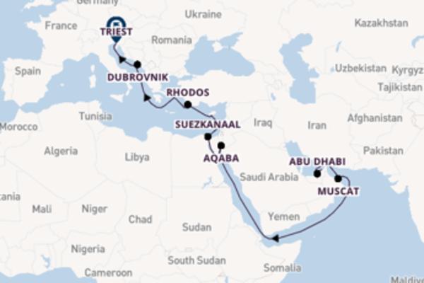 21-daagse droomcruise vanuit Dubai