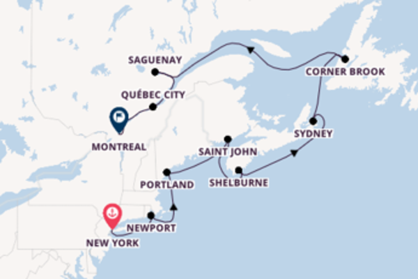 Expedition with Oceania Cruises from New York