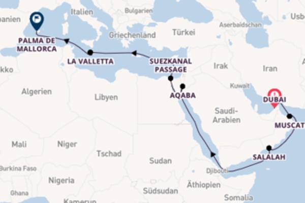 Wundervolle Kreuzfahrt über Aqaba ab Dubai