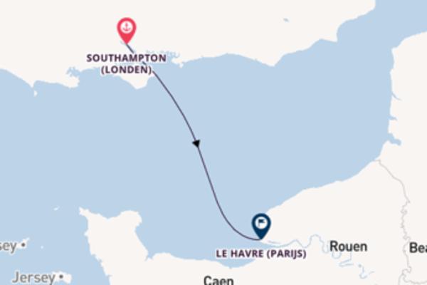 Cruise in 2 dagen naar Le Havre (Parijs) met MSC Cruises
