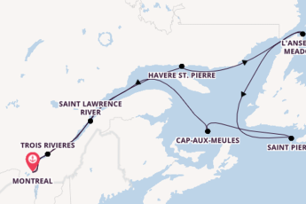13 day cruise with the Seabourn Quest to Montreal