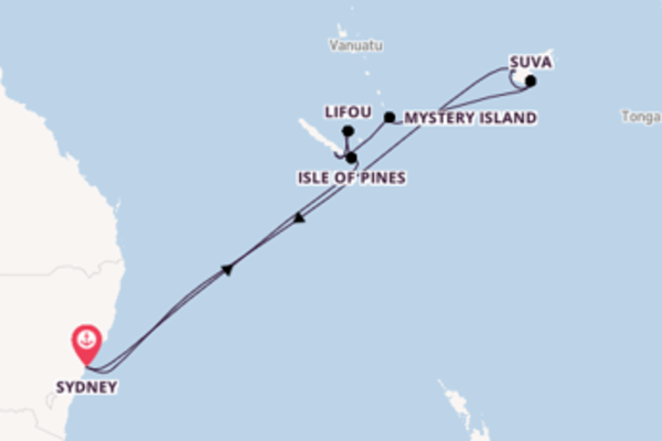 14 day journey on board the Serenade of the Seas from Sydney
